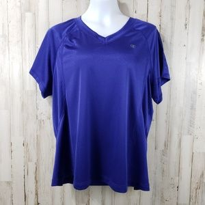 Champion Womens Athletic Top Purple Double Dry